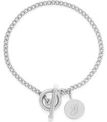 brook & york stella imitation pearl initial toggle bracelet