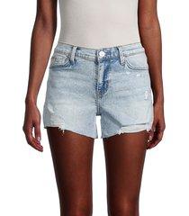 hudson women's gracie alexandria denim shorts - blue - size 24 (0)