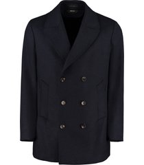 z zegna double-breasted wool coat