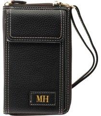billetera portacelular con correa negro teens