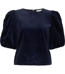 adeengz blouse ma20 blouse lange mouwen blauw gestuz