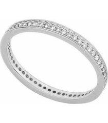 anel aparador todo de zircônias banhado a prata 925 lys lazuli feminino - feminino