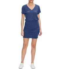 women's michael stars odessa v-neck dress, size small - blue