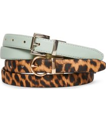 steve madden women's 2-for-1 reversible belt