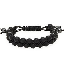 double striped agate shmabala bracelet