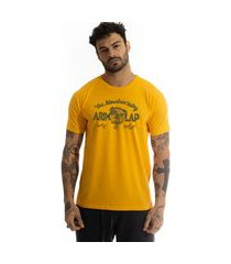 camiseta arimlap bulldog amarelo queimado