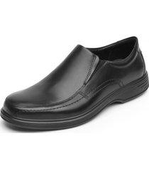 zapato cuero formal quilmes negro flexi
