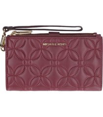 michael kors adele leather smartphone wallet