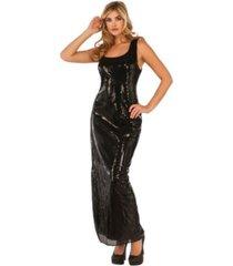 buyseasons women's sultry sequin black dress adult costume