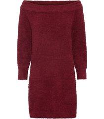 abito in maglia con poliestere riciclato (rosso) - bodyflirt