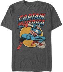 marvel men's comic collection retro captain america action pose short sleeve t-shirt