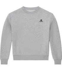 converse sudadera embroidered star chevron grey
