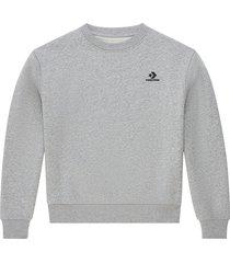 converse sudadera embroidered star chevron grey