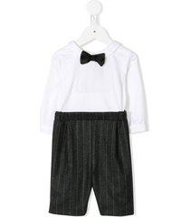 la stupenderia bow-tie shorts suit - white