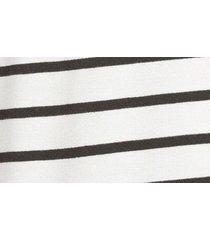 women's caslon stripe cozy sweatshirt, size small - ivory
