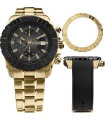 relógio technos ts carbon masculino cronógrafo - js15bd/4p js15bd/4p