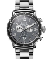 men's shinola the runwell sport chronograph bracelet watch, 48mm
