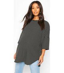 maternity oversized stripe ribbed t-shirt