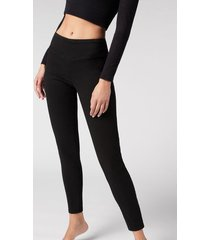 calzedonia leggings jeans skinny woman black size xs