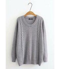 maglione girocollo casual per donne