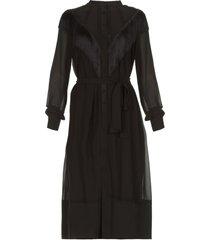 jurk met franjes acaray  zwart