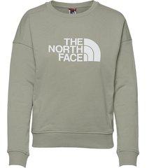 w drew peak crew-eu sweat-shirt trui groen the north face