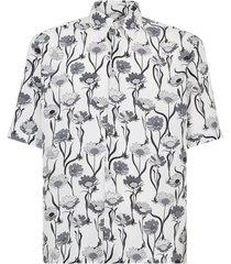 floral print short-sleeve shirt