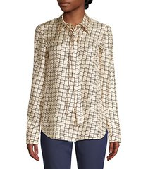 diana tie-neck silk blouse