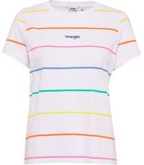 regular tee t-shirts short-sleeved multi/mönstrad wrangler