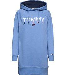 tjw logo hoodie dress hoodie trui blauw tommy jeans