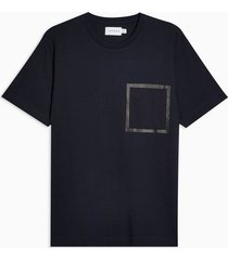mens navy bonded pocket t-shirt