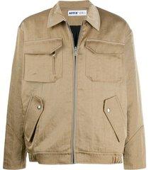 affix multi-pocket zip-up jacket - neutrals