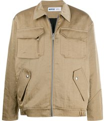 affix multi-pocket zip-up jacket - neutrals