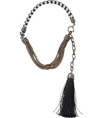 vita short tassle necklace