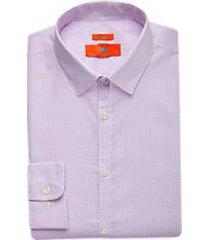 egara orange pink print extreme slim fit dress shirt