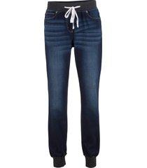 jeans boyfriend elasticizzati con cinta comoda (nero) - bpc bonprix collection