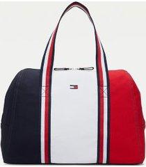 tommy hilfiger women's colorblock duffle bag multi -