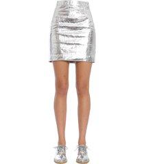 proenza schouler metallic leather skirt