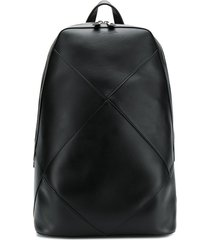 bottega veneta maxi weave backpack - black