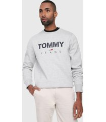 buzo  tommy jeans lt grey htr