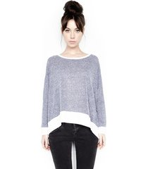 fred l/s cape - m/l blue white vps