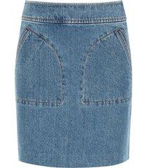 a.p.c. shanya denim mini skirt