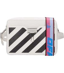 diag camera bag shoulder bag in white leather