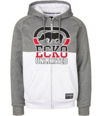 ecko unltd men's rhino blocked full zip sherpa hoodie