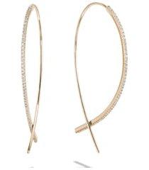 women's lana jewelry small upside down flawless diamond hoop earrings