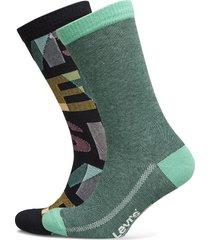 levis regular cut letter overlap 2p underwear socks regular socks multi/mönstrad levi´s