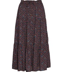 evelyn skirt rok knielengte bruin lexington clothing