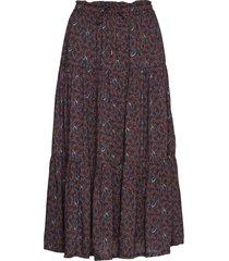 evelyn skirt rok knielengte bruin lexington clothing