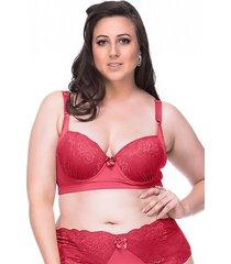 sutiã sempre sensual lingerie retrô vermelho - kanui