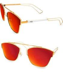 aqs women's emery 59mm square sunglasses - red